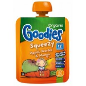 Organix Goodies Squeezy Appel / Wortel / Mango +12 mnd